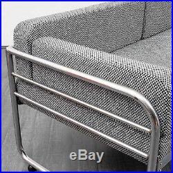 Canapé daybed Bauhaus années 30, refait à neuf