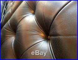 Canape vintage design Florence KNOLL cuir noir 230cm authentique 1983
