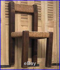 Chaise Art Deco Design Brutaliste Audoux Minet Charles Dudouyt 1940