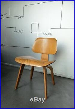 Chaise DCW Chair placage frêne Calico Ash Charles & Ray Eames Herman Miller 1950
