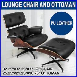Chaise Lounge et Ottoman avec Repose-Pieds Cuir Longue Ottoman Chair Classique