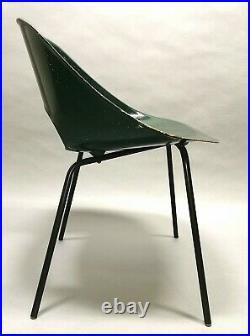Chaise Tonneau Pierre Guariche Fibre De Verre 1950's