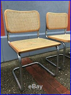 Chaise cesca design Marcel Breuer, Italy Knoll années 70 Cannage Refait