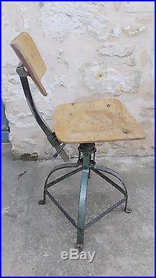 Chaise Datelier Industrielle Type BIENAISE Patine Intact Dco Loft Usine