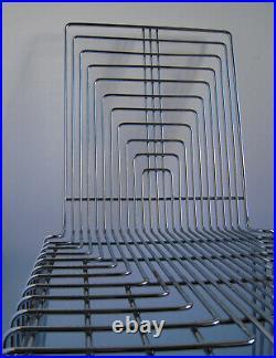 Chaise empilable Max Sauze Acier chromé 1970 France