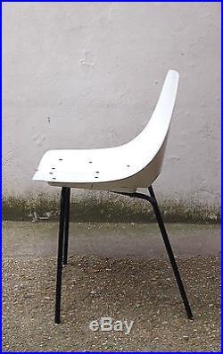Chaise pierre guariche tonneau bois design 50 vintage 1950's french