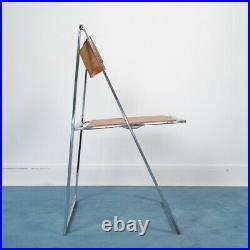 Chaises en cuir chaise pliante Elios design ANNI 60 VINTAGE modernariato