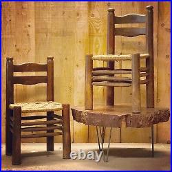 Charles Dudouyt Paire de Chaises 1940 Meuble 1950 Art Deco Design Vintage Frenc