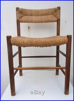 Charlotte Perriand 6 chaises Dordogne édition maison Sentou années 1955
