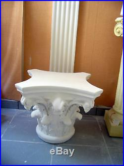 Colonne corinthienne stèle, pilier, table, en platre armé(staff). @rticle neuf