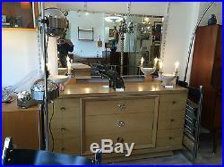 Commode Art Deco 1950 1960 Vintage + Miroir Buffet Enfilade Coiffeuse S22