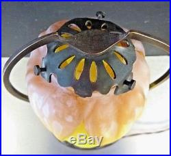 DAUM MAJORELLE Lampe art nouveau, bronze et pâte de verre école de nancy