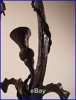 DAUM NANCY Lampe art déco aux chardons vers 1920/1925