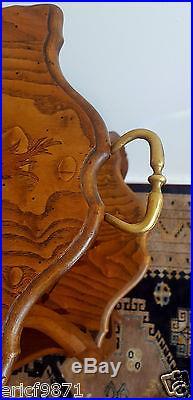 Dans le gout dÉmile Galléexceptionnelle table guéridon a double plateau violon