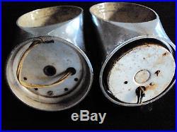 Deux appliques métal chromé vintage année 70