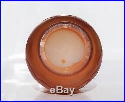 EMILE GALLÉ Rare Vase décor CapucineJaponisant Pâte de Verre Gravé ART NOUVEAU