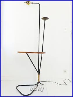 EXCEPTIONNEL LAMPADAIRE A DOUBLE DIABOLO & BOUGEOIR 1950 VINTAGE 50's