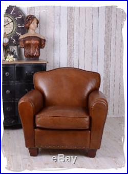 EXCLUSIVE FAUTEUIL CLUB FRANCAIS ART DECO Chaise Sofa en cuir Canapé en cuir