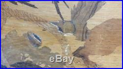 Emile Gallé art nouveau 3 tables gigognes écureuil chat perruche