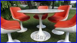 Ensemble salle à manger Table chaises tulipe 1970 Vintage Saarinen Knoll style