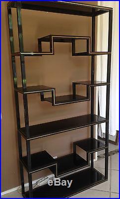 Etagere Bibliotheque Pierre Vandel Cardin Laque Noir Sideboard Shelves