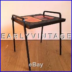 FRÈRES CLOUTIER Coffee TILE Table Céramique FRENCH Design Vintage 1960 cf Capron
