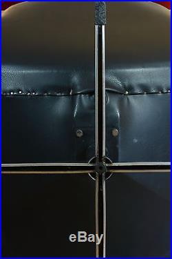 Fauteuil 1960 design deco Vintage pied chrome dlgd Knoll internationnal x2 rare