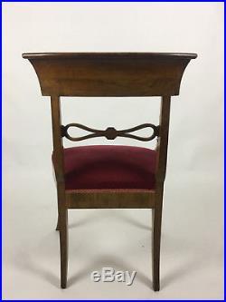 Fauteuil / Chaise À Crosse Décor De Marqueterie De Citronnier Époque Charles X