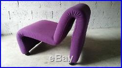 Fauteuil Chauffeuse Etienne Fermigier Vintage Années 60 / 70 Design
