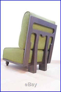 Fauteuil Chauffeuse Guillerme et Chambron Années 70 Vintage Design