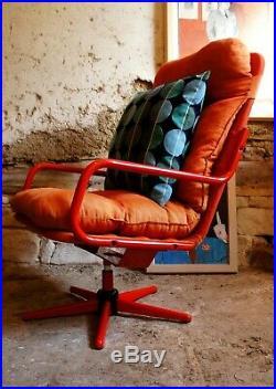 Fauteuil Lounge Chair Tubulaire Vintage Pivotant Dlg Berthier Prisunic 70