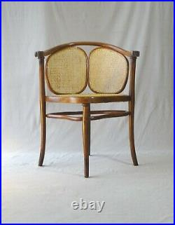 Fauteuil Thonet N°2 vers 1890 assise en selle cannée rare modèle