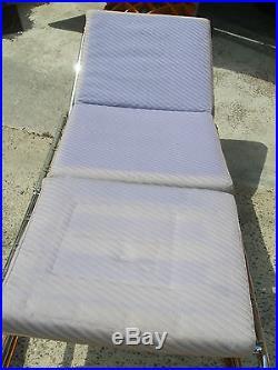 Fauteuil à mécanisme transformable en chaise longue Fr Caruelle. 50's