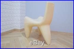 Fauteuil- chaise Galactica couleur crème Douglas Mont vintage design