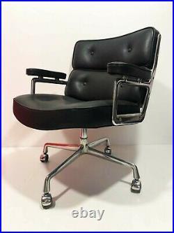 Fauteuil de Bureau' Lobby' CUIR C. R. Eames Herman Miller Vintage An 70's