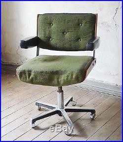Fauteuil de bureau design Alain Richard années 70 60 vintage 1960