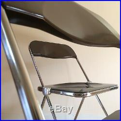 GIANCARLO PIRETTI ed CASTELLI Paire Chaise PLIA folding chair design 1970 Chrome