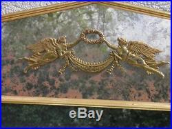 GRAND MIROIR A FRONTON Style EMPIRE bronze pareclose glace trumeau de cheminée