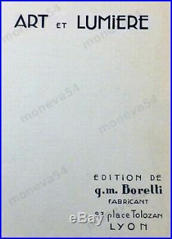 G. M. Boretti Lustre Art Déco Catalogué En Bronze Et Batonnets De Cristal 1930