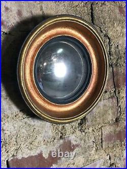 Glace / Miroir (lot de 3) convexe style Napoléon III doré cuivré Diam 22,5 cm