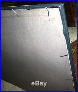 Glace / miroir atelier 4 bandeaux style vintage en fer