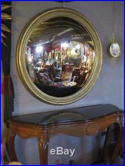 Glace / miroir doré patiné oeil de sorcière Diamètre 124 cm