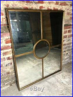 Glace / miroir fenêtre biseauté à pareclose doré