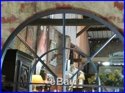 Glace / miroir fenêtre cintré en fer forgé hauteur 135 cm