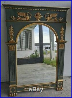 Grand MIROIR de CHEMINEE XXe Style EMPIRE Bois Peint Dore Dorures Mirror Art