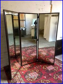 Grand Miroir Triptyque en Fer Forgé. Art Déco 1930