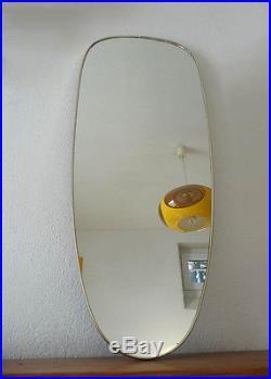 Grand Miroir vintage des Années 60's 70's asymétrique rétroviseur