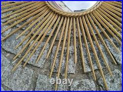 Grand miroir chaty vallauris soleil sorcière métal doré décoration intérieur