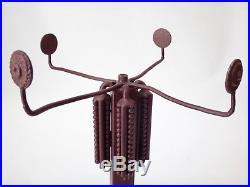 Grand pied de lampe fer forgé style Brandt époque Art Deco 1930