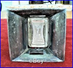 Grand vase WMF métal argenté cristal art nouveau jugendstil